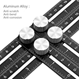Herramienta de la plantilla del ángulo-sizer, Preciva Regla de medición del Multi-Ángulo , Aleación de aluminio Herramienta de la medida de la precisión Transportadores de ángulos, Herramienta para los artesanos, manitas, constructores, DIY