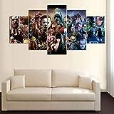 ZEMER Peintures De Films d'horreur De Théâtre Hurlant Impressions sur Toile Affiche Moderne De Murs d'art Oeuvre Contemporaine pour Les Décorations Murales (Pas De Cadre),L