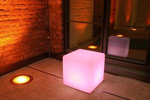 Sitzwürfel - Leuchtwürfel - Beistelltisch - Cube Outdoor LED