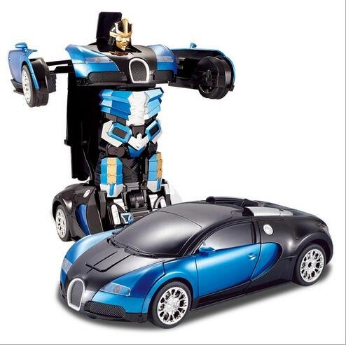 Comtechlogic� CM-2171 Bugatti Veyron Rc Radio Remote Control Bumblebee Transformers Drifting Car & Robot with one touch transforming