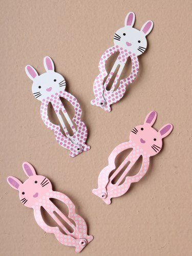 2-packs-of-bunny-rabbit-5cm-hair-sleepies-clips-hair-accessories-in-pink-and-white