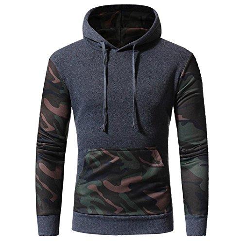 Herren Outwear Tarnung, GreatestPAK Lange Ärmel Drucken Kapuze Sweatshirt Tops Jackenmantel