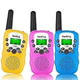 Nestling 3 Pack Walkie Talkies for Kids, Two-Way Radios Toys with Backlit LCD