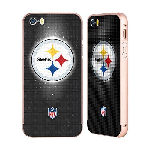 Ufficiale NFL Marmo 2017/18 Pittsburgh Steelers Oro Cover Contorno con Bumper in Alluminio per Apple iPhone 5 / 5s / SE LED