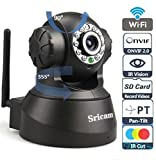 #4: Sricam SP Series Wireless HD IP Wifi CCTV [Watch LIVE DEMO right now] indoor Security Camera (support upto 128 GB SD card) (Black Color)
