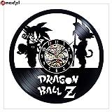 Karton Dragon Ball Black Vinyl Record 3D Wanduhr Aufkleber personalisierte Kunst kreative Dekoration Unterstützung Drop Shipping, 5great Geschenk für Geburtstag, Jubiläum oder eine andere Gelegenheit