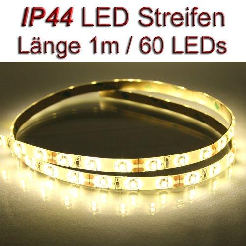LED Streifen Strip WARMWEISS wasserdicht ca. 1 m 60x LEDs PCBw