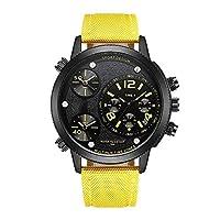 Hardworking bee Multi-Function Watch Three-time Zone Quartz Watch Fashion Big Dial Men