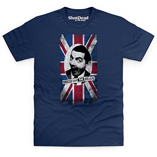 official-mr-bean-long-live-the-bean-t-shirt-uomo-blu-navy-l