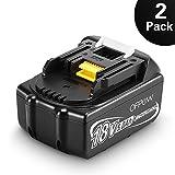 Reemplazo Batería para Makita, Ofpow 2 Paquetes 18V 5.0Ah de Herramienta Eléctrica Batería Repuesto para Makita BL1850, BL1840, BL1830, BL1815, BL1835