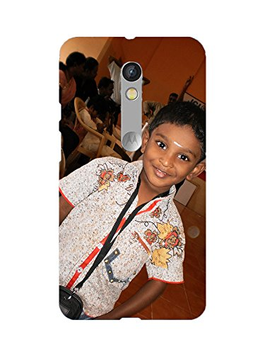 Magic Prints Personalized 3D Printed Mobile Back Case For Moto X Play With Your Own Photo & Message