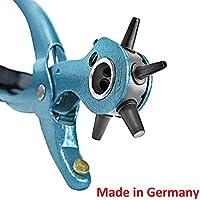 S&R Pince Perforatrice pour Cuir Cintures Bracelets / FABRICATION ALLEMANDE / Pince Emporte Piece avec 6 Poinçons : 2 - 2,5 - 3 - 3,5 - 4 - 4,5 mm.