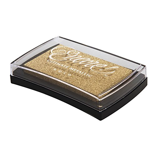 Rayher Hobby 29016616 Encore Pigment-Stempelkissen, Kunststoff, Gold, 9,4 x 6,6 x 2 cm