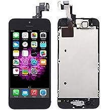 LCD Pantalla Táctil Reemplazo Completo de Pantalla con Botón de Inicio y Cámara de Alta Calidad Nuevo (Negro-Iphone 5 SE)