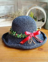 Beach Sun Hat Wreath Hat Female Summer Small Sunny Sun Hat Can Be Folded Out Of The Sun Hat Vacation Beach Cap Soft and comfort