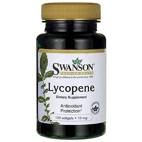 SWANSON - Lycopène 10mg, 120 gélules - Puissant Caroténoïdes Antioxydant