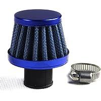 Supeedomotor filtro aria universale blu mini aria di sfiato filtri piccolo monoblocco nebbia d' olio combustibile motore auto 15mm
