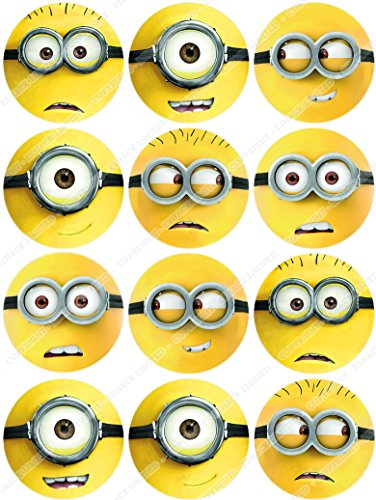 Image of Cakeshop 12 x PRE-CUT Despicable Me Minions Edible Cake Toppers