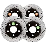 Approved Performance F15666R - [Front & Rear] Set Premium Performance Drilled and Slotted Brake Rotors by Approved Performance