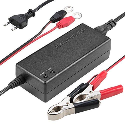 Chargeur de Batterie Auto Voiture Mainteneur Universel RAVPower - 12V 1.5A DC Charge 2x Plus Rapide - Avec Pinces Croco et Clips Détachables Convient à Tous Types de Véhicules à Batterie 12V