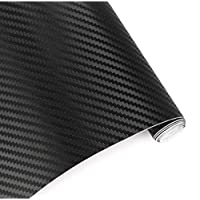 VIQILANY Car Styling 152cm x 50cm Black 3D Carbon Fiber Vinyl film Car Wrap With Air Free Bubble DIY Car Tuning Part Sticker