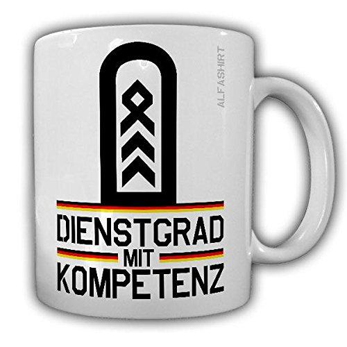 Tasse Oberstabsfeldwebel Dienstgrad Bundeswehr OStFw Dienstgrad Militär Schulterklappe Abzeichen Kaffee Becher #20661