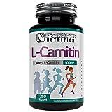 Muskelaufbaumittel - Acetyl L-Carnitin 500mg - 250 Kapseln - Die preiswerte Alternative