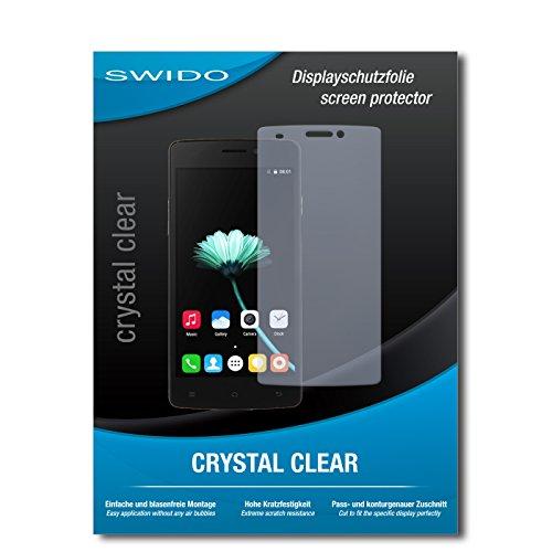 SWIDO Bildschirmschutz für Cubot X12 [4 Stück] Kristall-Klar, Hoher Härtegrad, Schutz vor Öl, Staub & Kratzer/Schutzfolie, Bildschirmschutzfolie, Panzerglas Folie