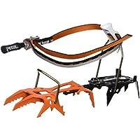 Petzl Erwachsene Dartwin Modulare Steigeisen Mit Zwei Frontalzacken Zum Eisklettern, Mit Leverlock Fil-bindungssystem, orange, 36-45
