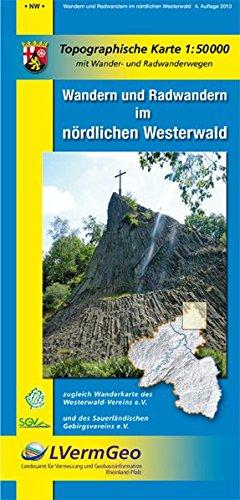 Wandern und Radwandern im nördlichen Westerwald (WR): Topographische Karte 1:50000 mit Wander- und Radwanderwegen (Freizeitkarten Rheinland-Pfalz 1:50000 /1:100000)