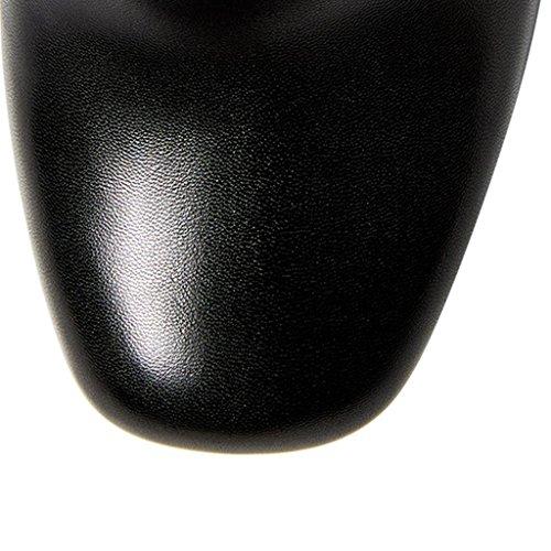 Scarpe basse impermeabili Ladies Caricamenti del posto di lavoro Stivali da banchetto Scarpe pendolari generose classiche Corteccia 8028FD , black , 35 BLACK-41