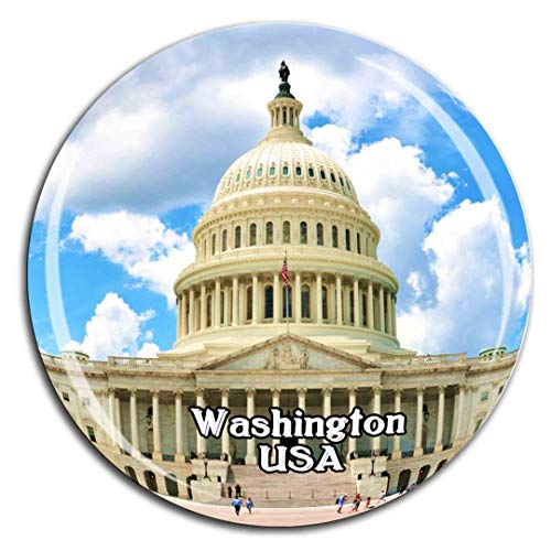 United States Capitol Washington Amerika USA Kühlschrankmagnet 3D Kristallglas Tourist City Travel Souvenir Collection Geschenk Stark Kühlschrank Aufkleber