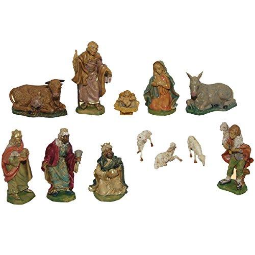 Alfred Kolbe Krippen IN - Juego de 12 Figuras de belén (10cm,...