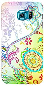 PrintVisa 3D-SGS6-D7954 Pattern Abstract Floral Back Cover for Samsung Galaxy S6