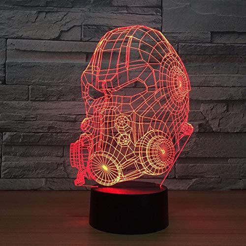 Täuschung, 3D Kinder Nachtlicht Feuerwehrmann Helm Kinderzimmer Nachtlicht für Kinderzimmer Home Decor Weihnachten Geburtstag Geschenke mit 7 Farbwechse ()