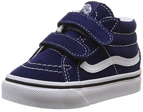 Vans Sk8-mid Reissue V, Chaussures Premiers pas mixte bébé Bleu (Patriot Blue/True White)