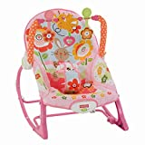 Mattel Y4544 - Fisher-Price Pink 3-in-1 Schaukelsitz mit Massagefunktion