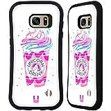 Head Case Designs Boisson D'Arc-En-Ciel Plaisirs De Licorne Étui Coque Hybride pour Samsung Galaxy S7 edge
