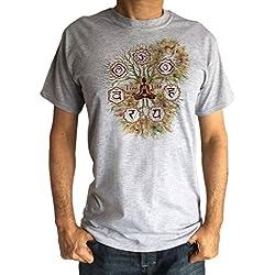 Irony Camiseta Hombre 'Tree of Life' Buda Yoga Meditación Chakra Symbols Om Zen Tree TS1423