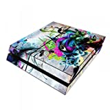 Skins4u Playstation 4 PS4 Skin Design Folie Premium Aufkleber Sticker Set - Streaming Eye [video game]