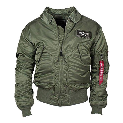 Alpha Industries Herren Jacken CWU 45, Einfarbig, Gr. XX-Large, Grün (sage-green 01) - Air Force Uniform