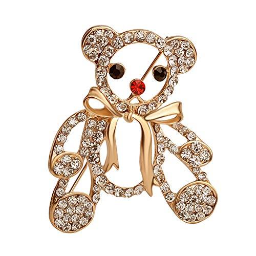 Gysad Brosche für Damen, modernes Design, billige Modeschmuck-Applikation mit Strasssteinen, Broschen für Damen, geeignet für Kleidung, Hüte, Schals, Taschen mit Blumen 3 * 5cm Stil-1