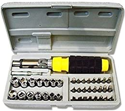 J Go Multipurpose Screwdriver Set - 41 In 1 Pcs For Car And Bike Repairing Tool Kit Screwdriver and Socket Set