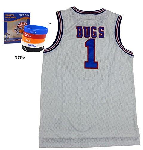 bugs-bunny-espacio-jam-jersey-baloncesto-jersey-tune-squad-tamano-mediano-blanco