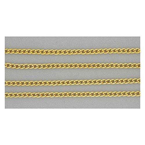 Schmuckkette Ankerkette - Gliederkette vergoldet, Meterware, Halskette zum Schmuck basteln, 1m