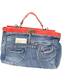DIETZ Jeans Hosen Handtasche echt Leder Damentasche aus original jeans Hosen