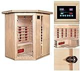 Home Deluxe – Infrarotkabine – Redsun XL – Keramikstrahler– Holz: Hemlocktanne - Maße: 155 x 120 x 190 cm – inkl. vielen Extras und komplettem Zubehör - 5