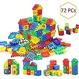 AdiChai Multi Colored 72 Pcs Mega Jumbo Happy Home House Building Blocks