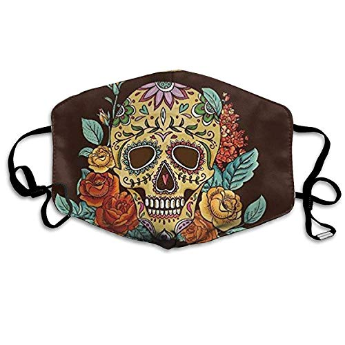 bb146d160581 Fashion Outdoor Mouth Mask, Face Masks with Design, Day of The Dead 2017  Mask Can Be Washed Reusable Mask One Size Multiple Colors