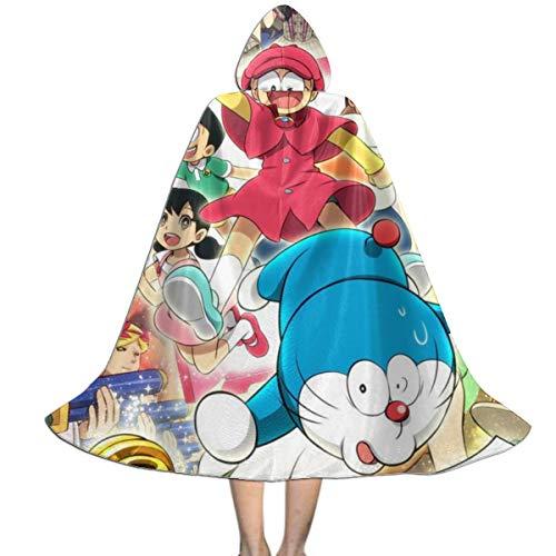 Doraemon Halloween Kostüm - ODYGDG51G Robotic Cat Doraemon Kapuzenumhang Kinder